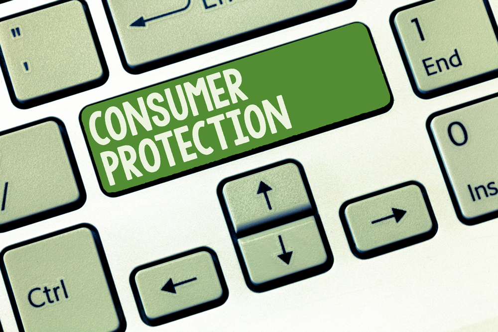 consumer protection key on keyboard