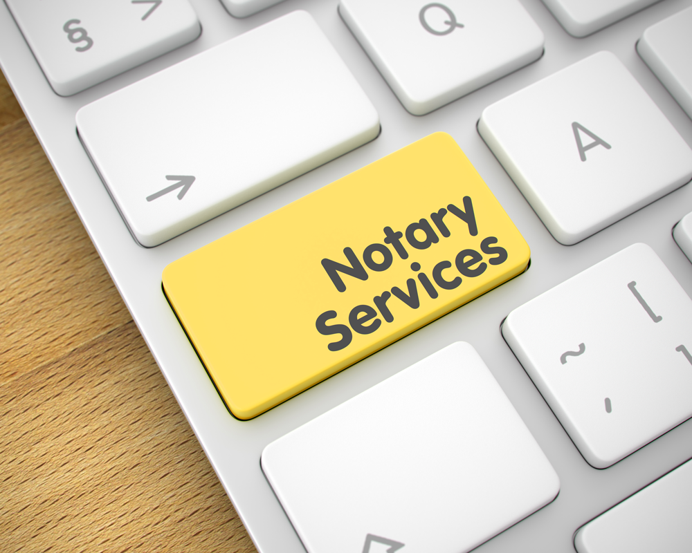 Keyboard with Notary Services button