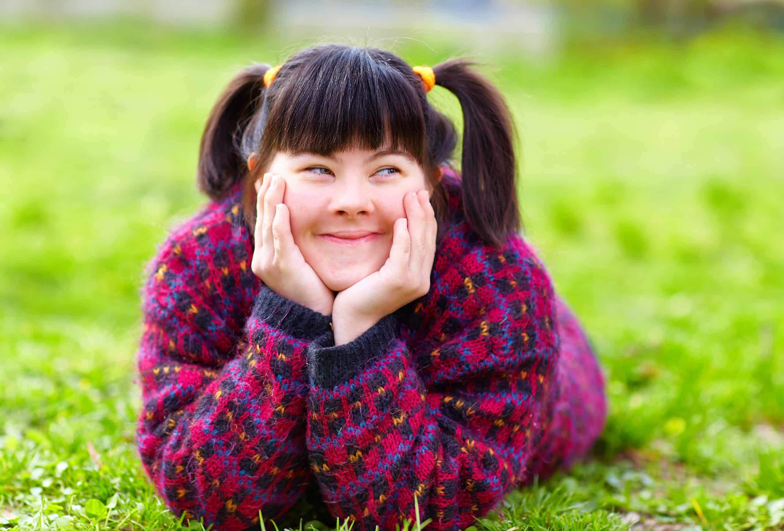 image of girl with downs syndrome