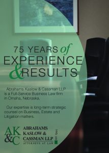 front cover of Firm Brochure 75 years of experience and results