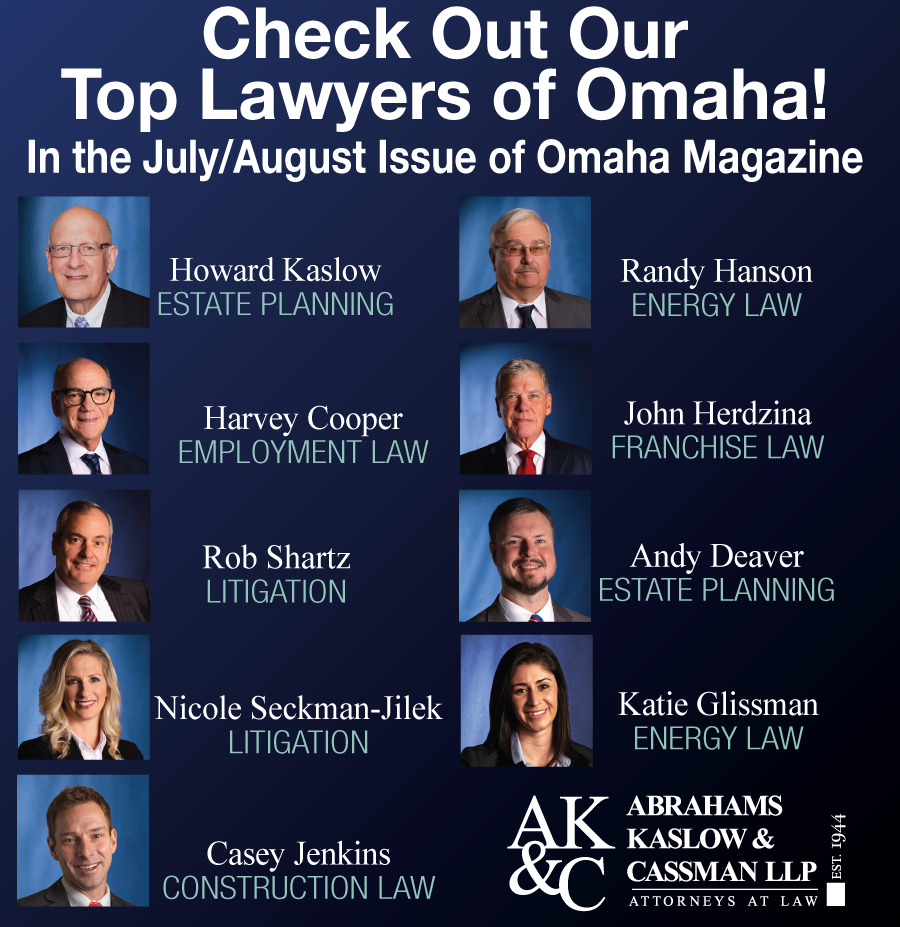 9 attorneys named to Top Lawyers of Omaha