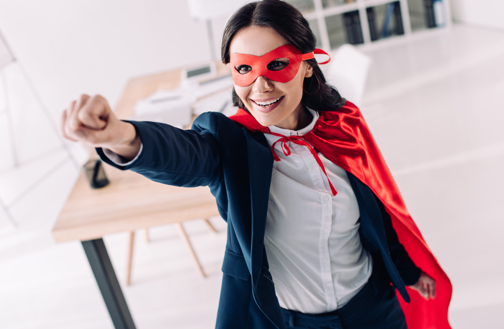 lady in cape, superhero photo for article Use Your Power, Estate Planning