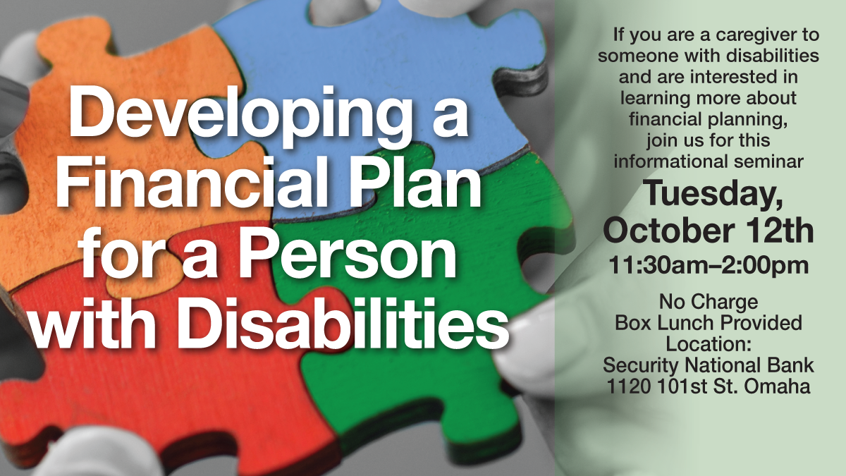 developing a financial plan for a person with disabilities logo